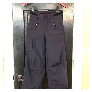 Obermeyer black ski pants XS size 6-7 youth